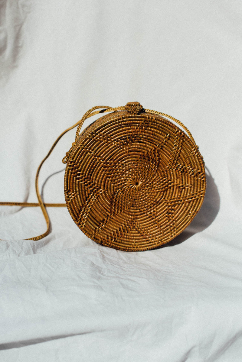 Madeline Round Bag - Natural - Style Addict
