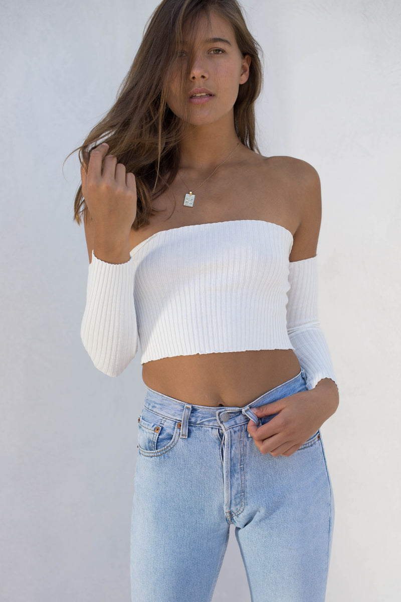Holly Crop - White - Style Addict