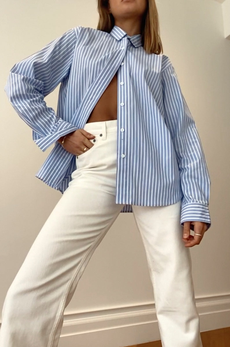 Tia Shirt - Blue Stripe