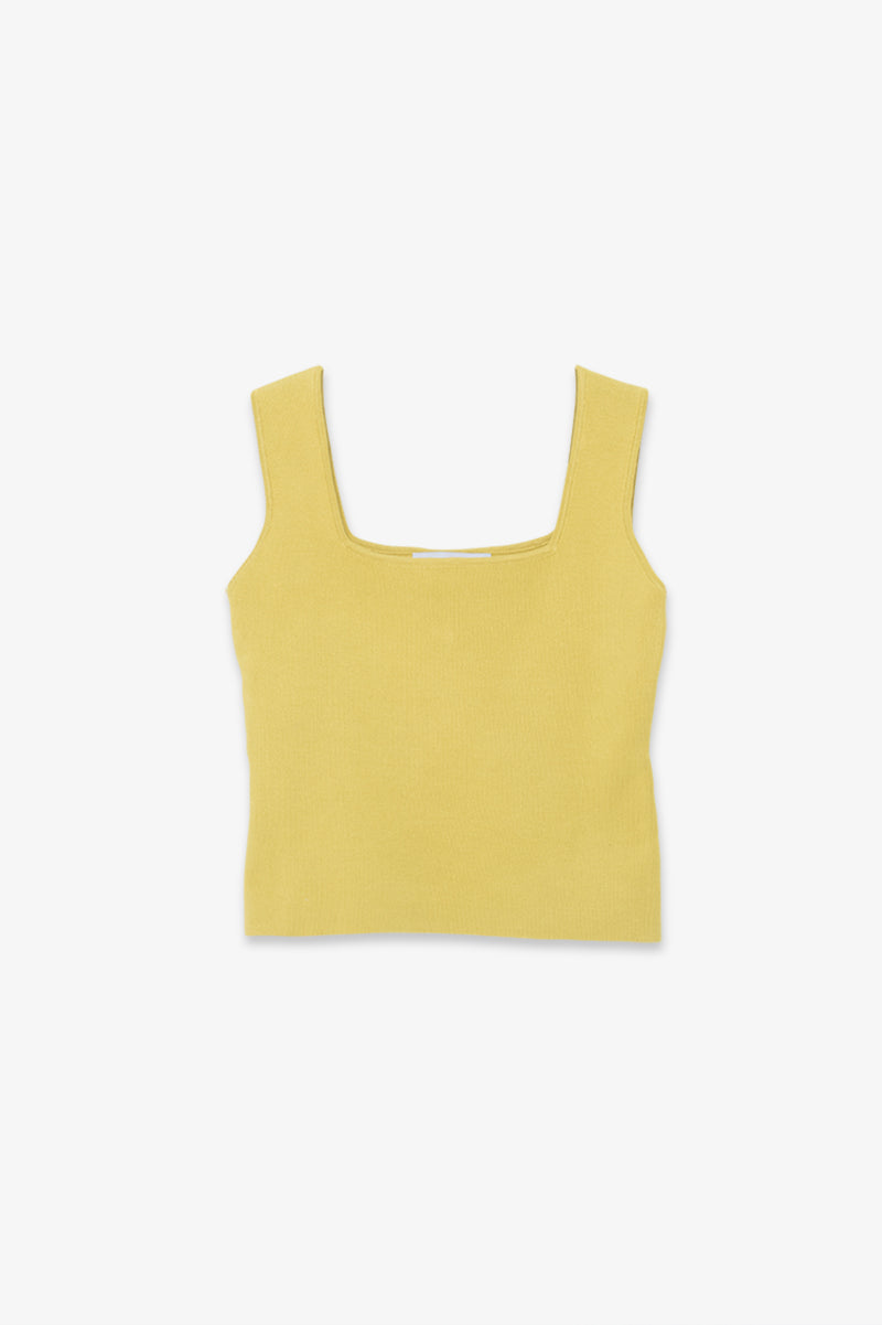 Charlotte Knit Tank - Yellow
