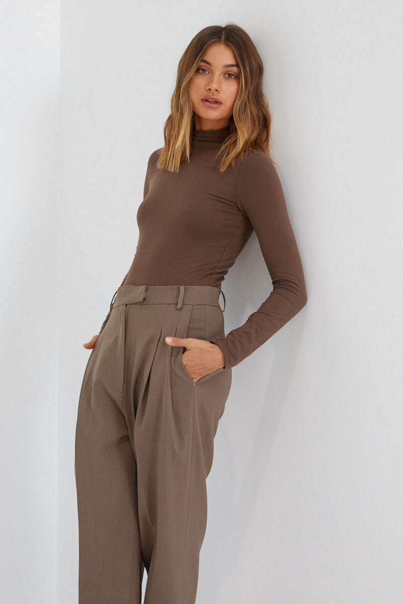 Skivvy Bodysuit - Brown