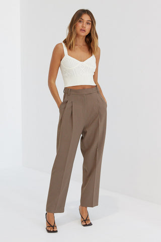 Fluffy Crop - Taupe