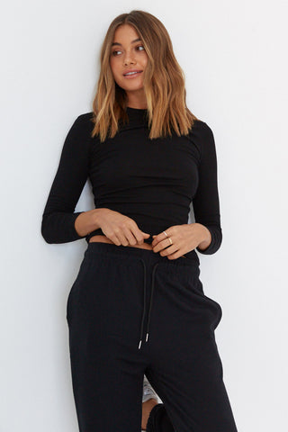 Ribbed Top - Black