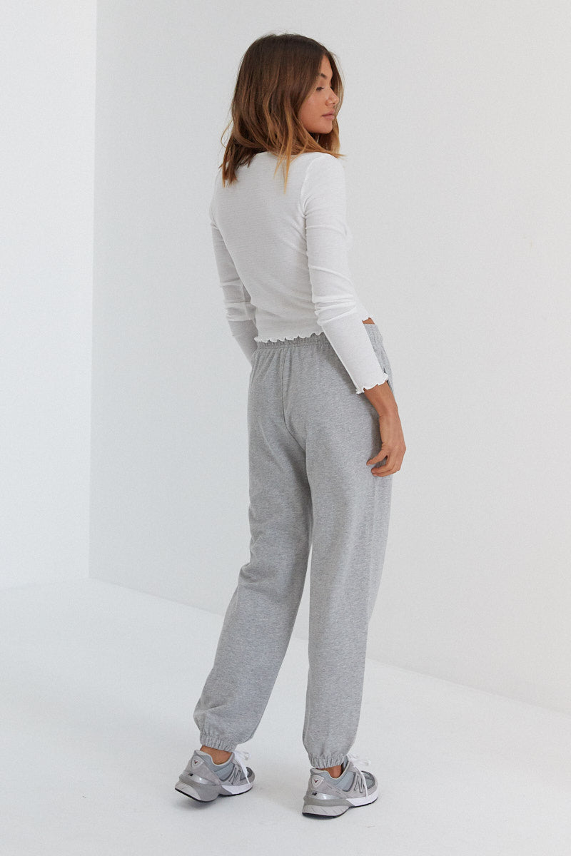 Lani Sweat Pants - Light Grey