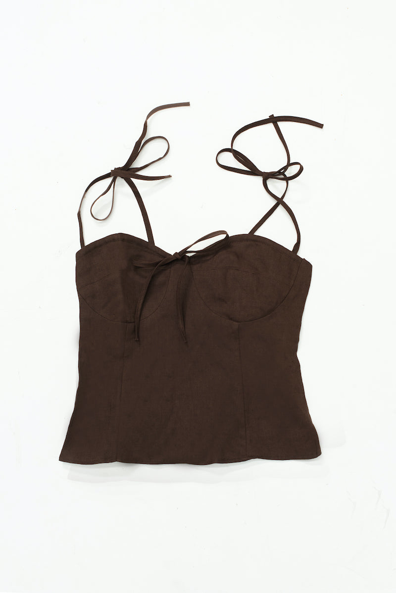 Palermo Halter Top - Chocolate