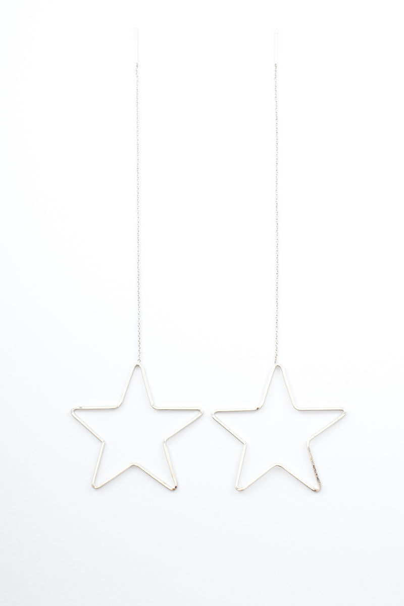 Star Gazer Earrings - Silver - Style Addict