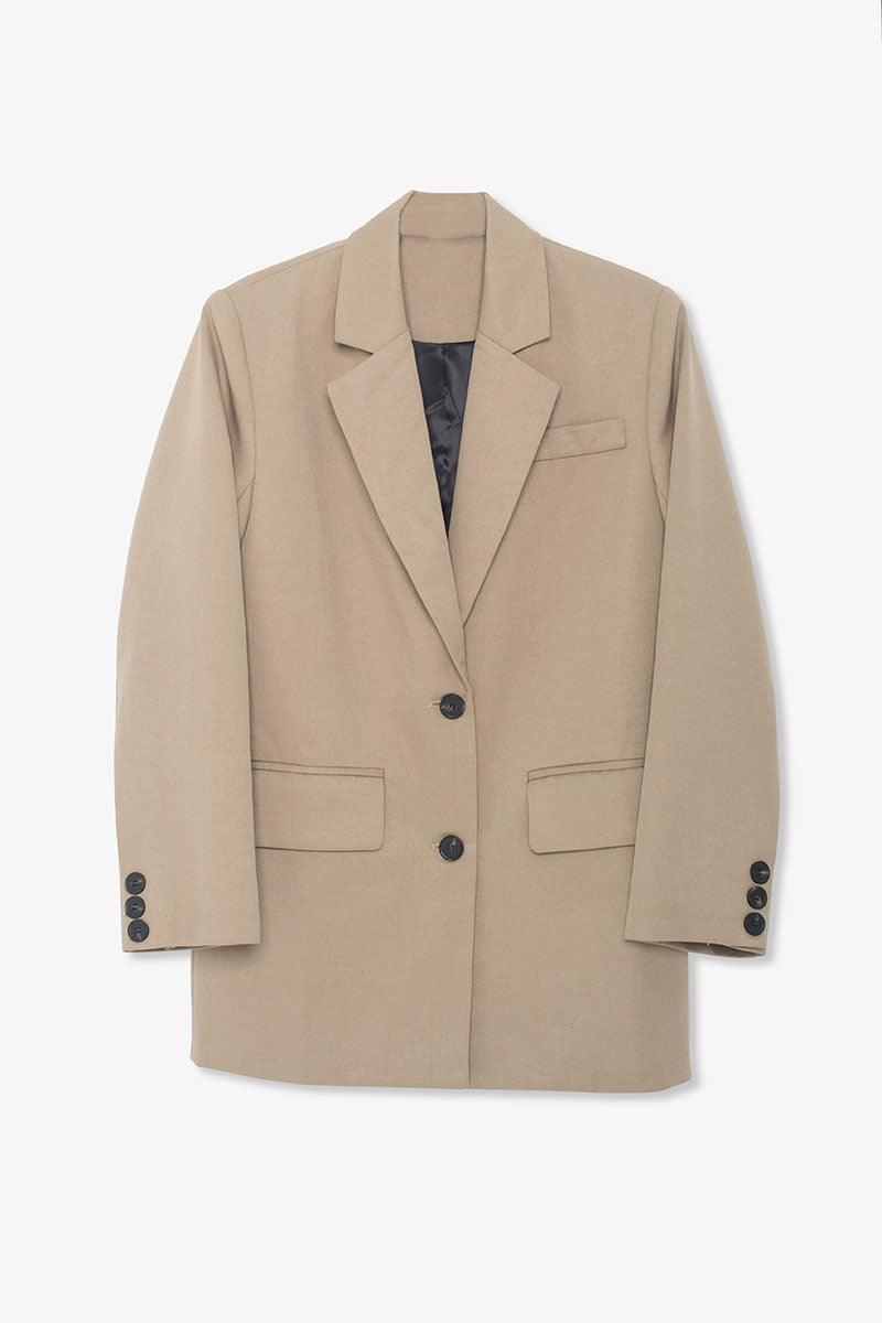 Jacques Wool Blazer - Khaki