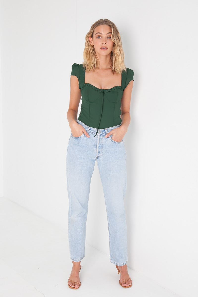 Genevieve Top - Emerald