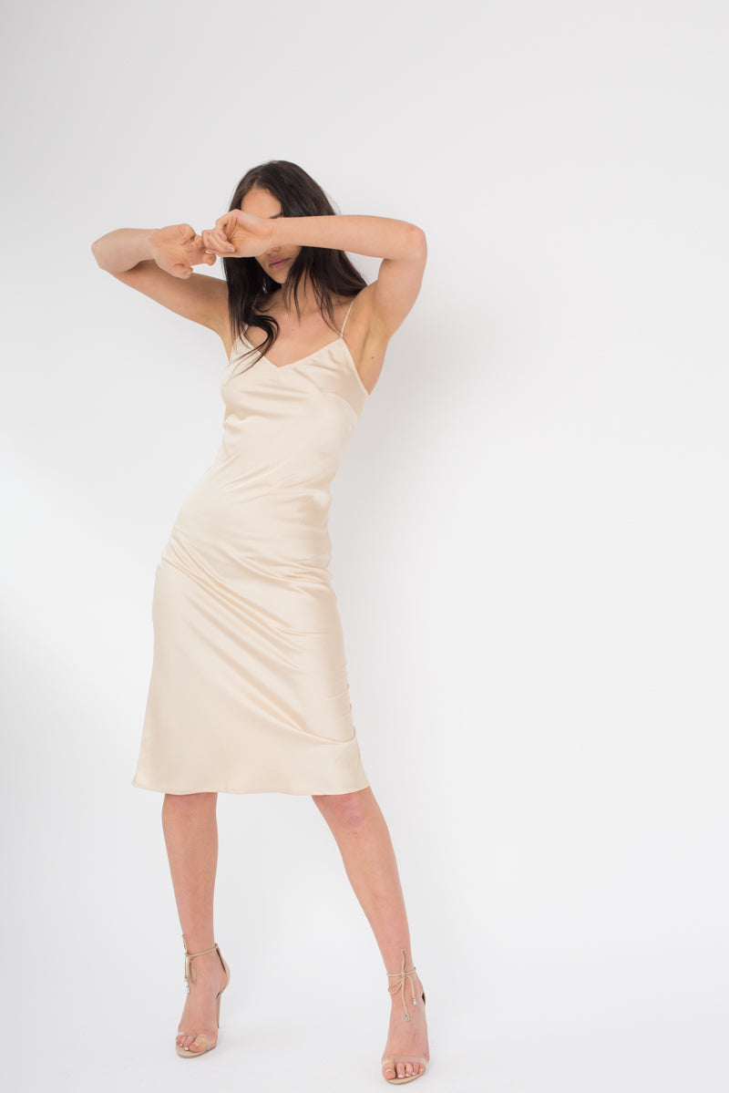 PRE ORDER Lola Dress - Gold - Style Addict
