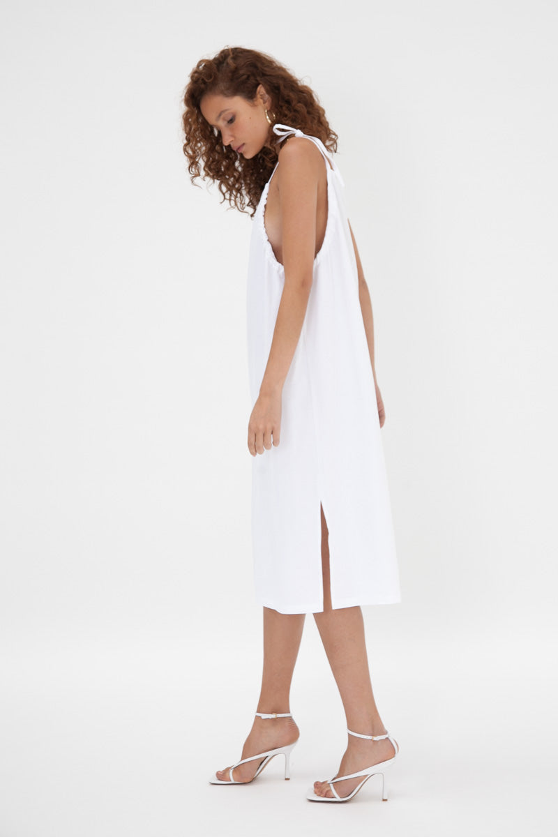 Amalfi Dress - White