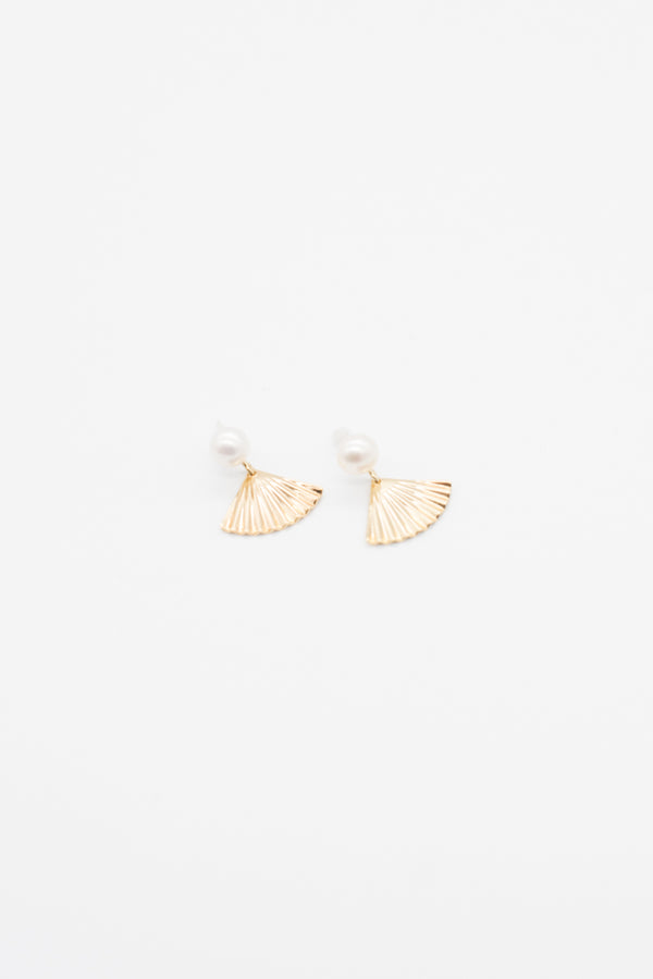 Fan Earrings - 14K Gold Plated