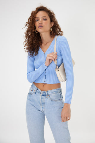 Chunky Knit Jumper - Baby Blue