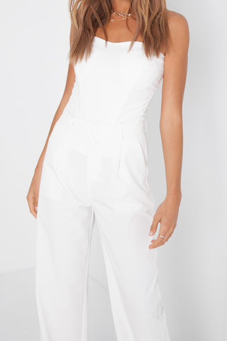 Button Tank - White