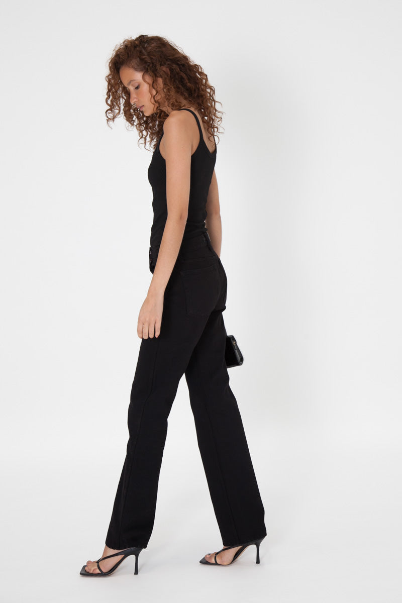 Button Tank - Black