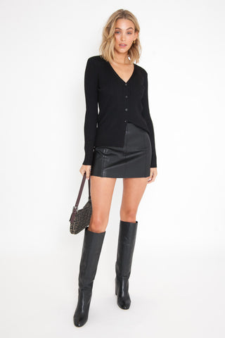 Shipwreck Knit Playsuit - Black