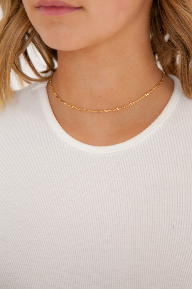 Delicate Chain Choker - 14k Gold Plated