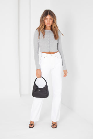 Button Top - White