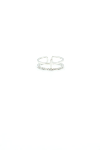 Bianca Hoop Earrings - Silver