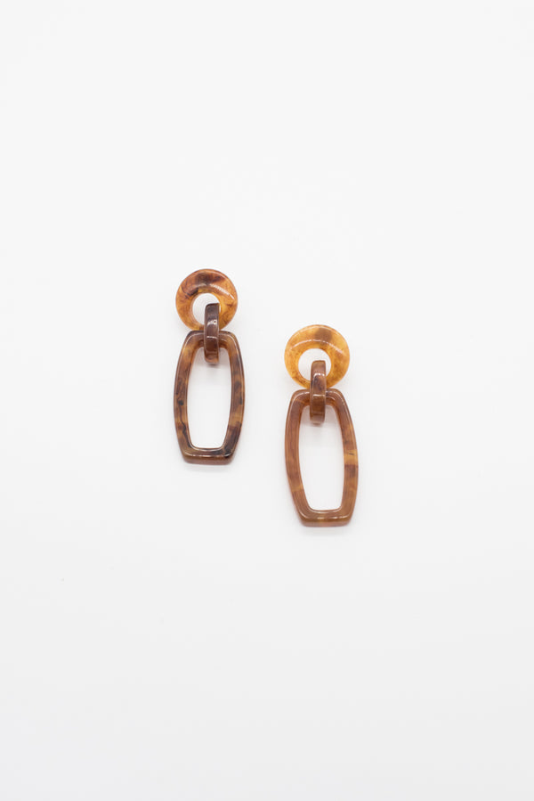 Rima Earrings - Tortoise Shell