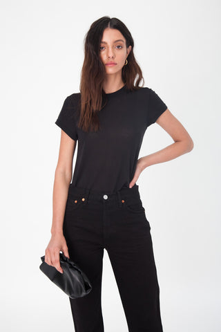 Silk Lola Top - Black