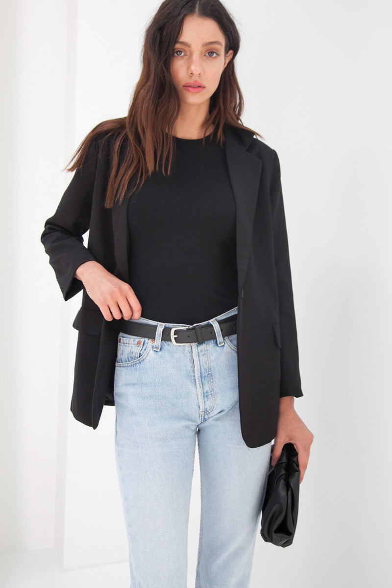 Emily Wool Blazer - Black