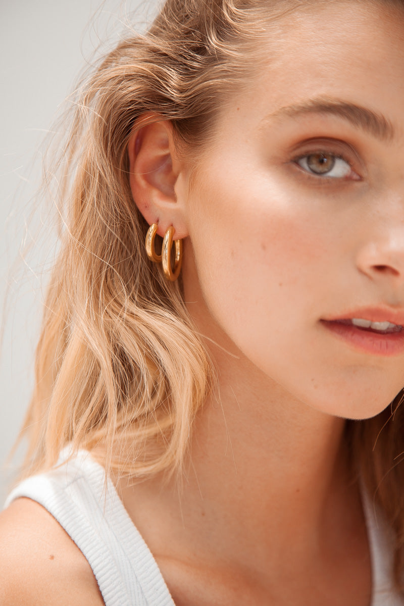 Extra Small Hoop Earrings - Gold Plated