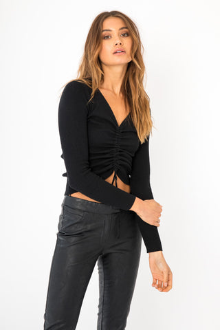 Gabi Top Short Sleeve - Black