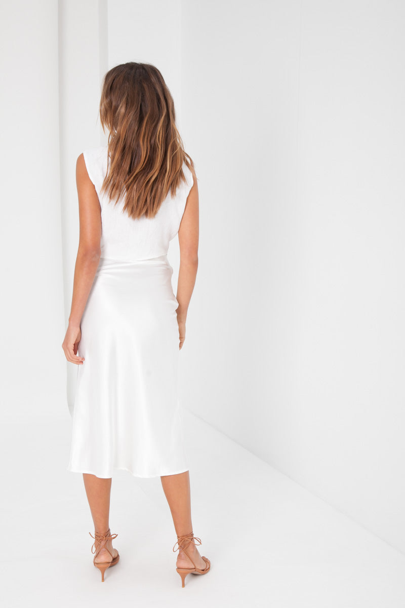 Isabel Midi Skirt - White