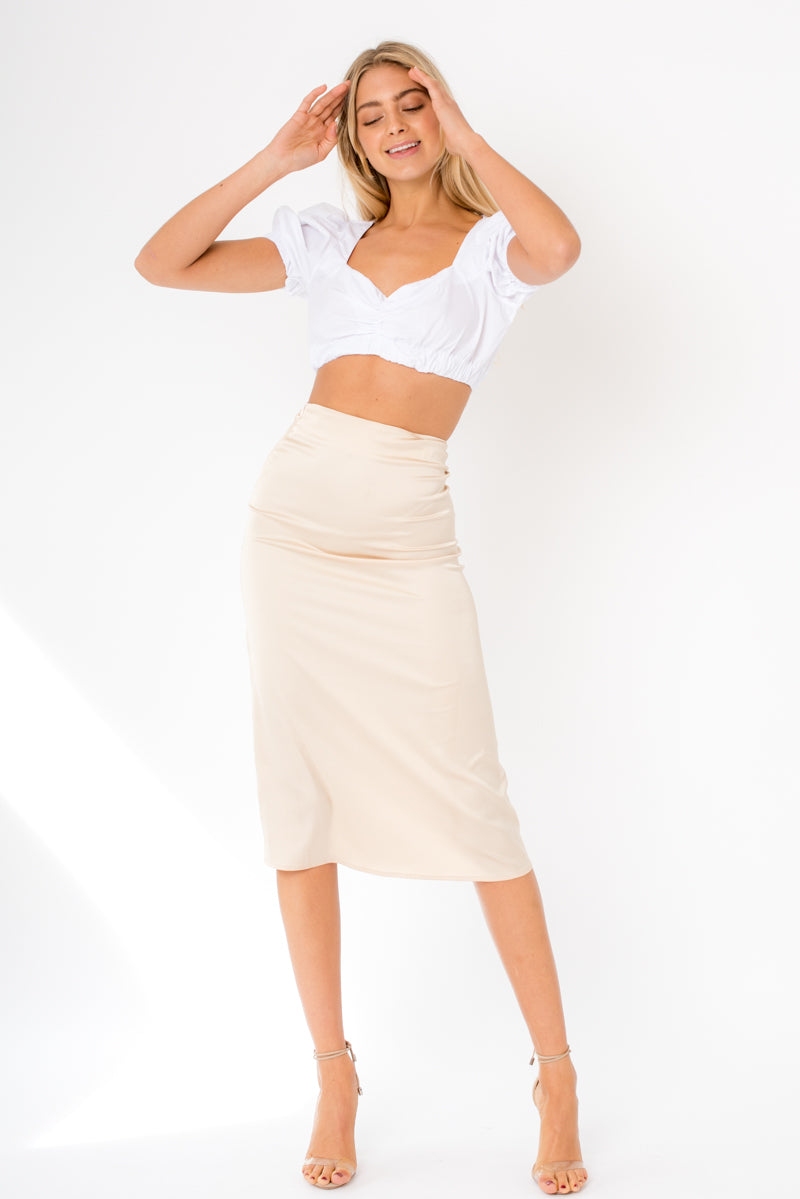 Isabel Midi Skirt - Gold