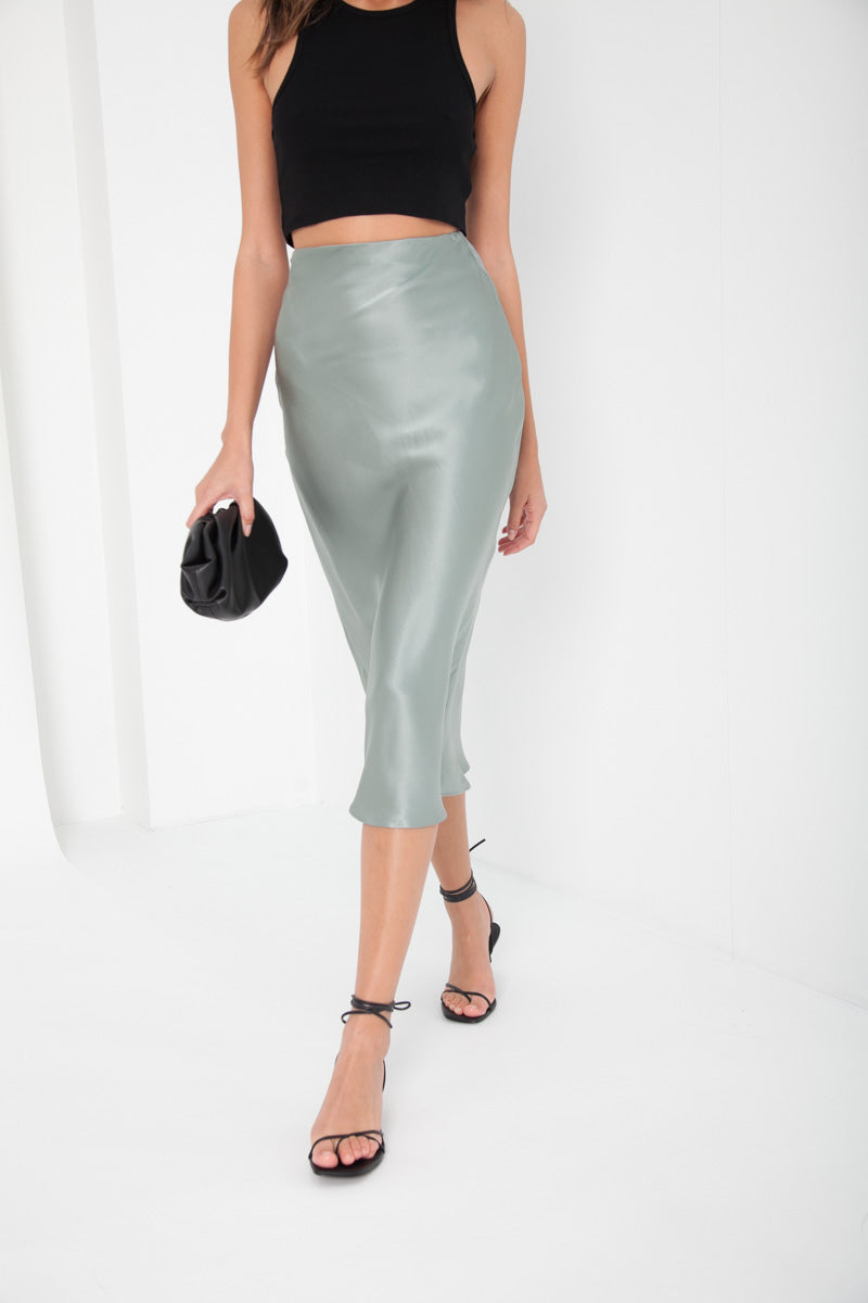 Isabel Midi Skirt - Teal