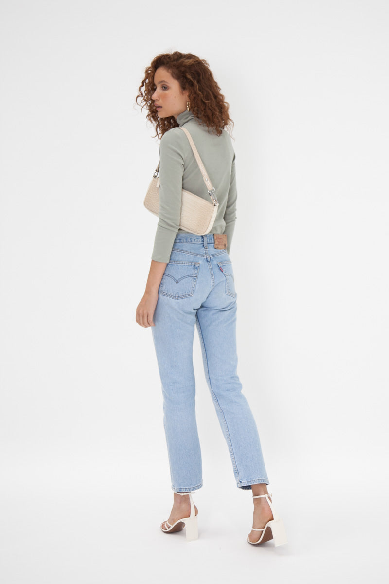 Jessica Turtle Neck Top - Sage