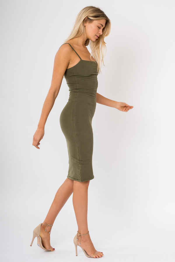 Tube Dress - Khaki