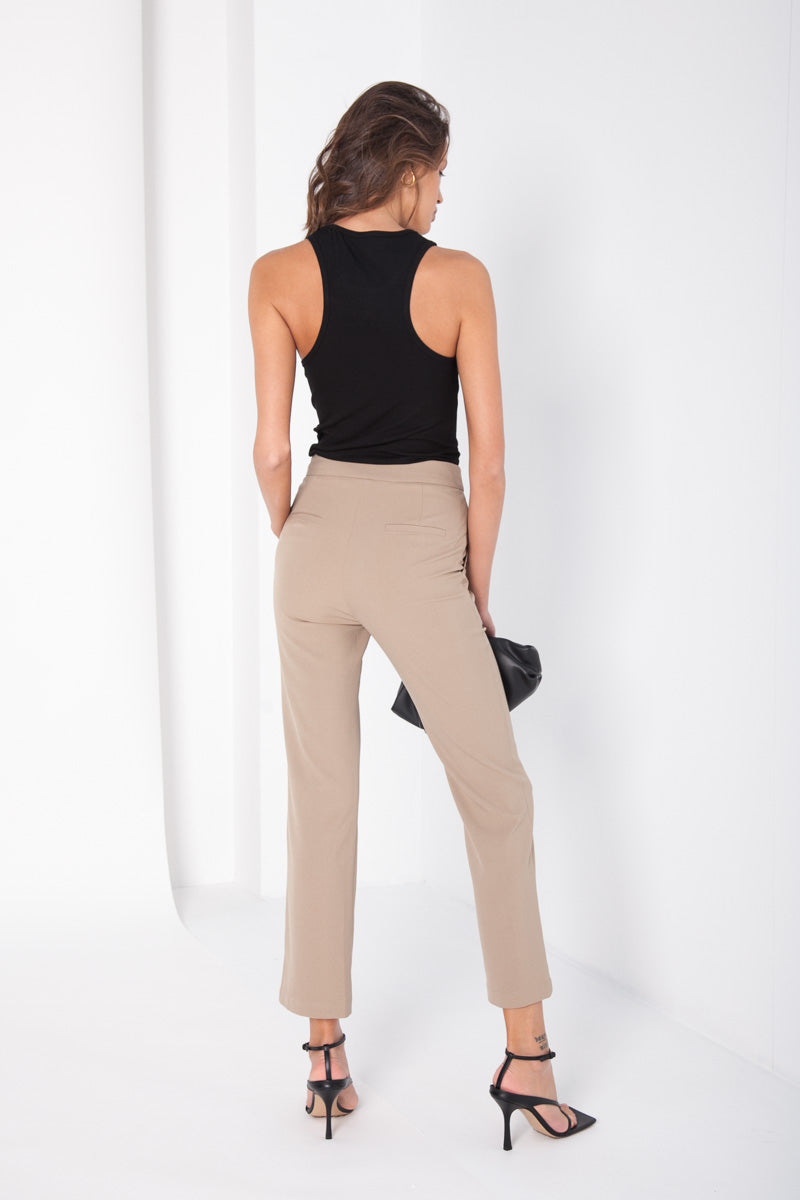 Classic Kick Flare Trousers - Tan