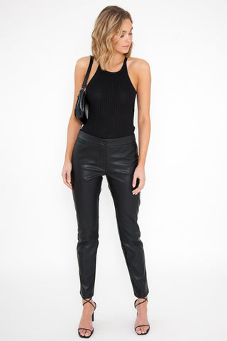 One Shoulder Top - Black