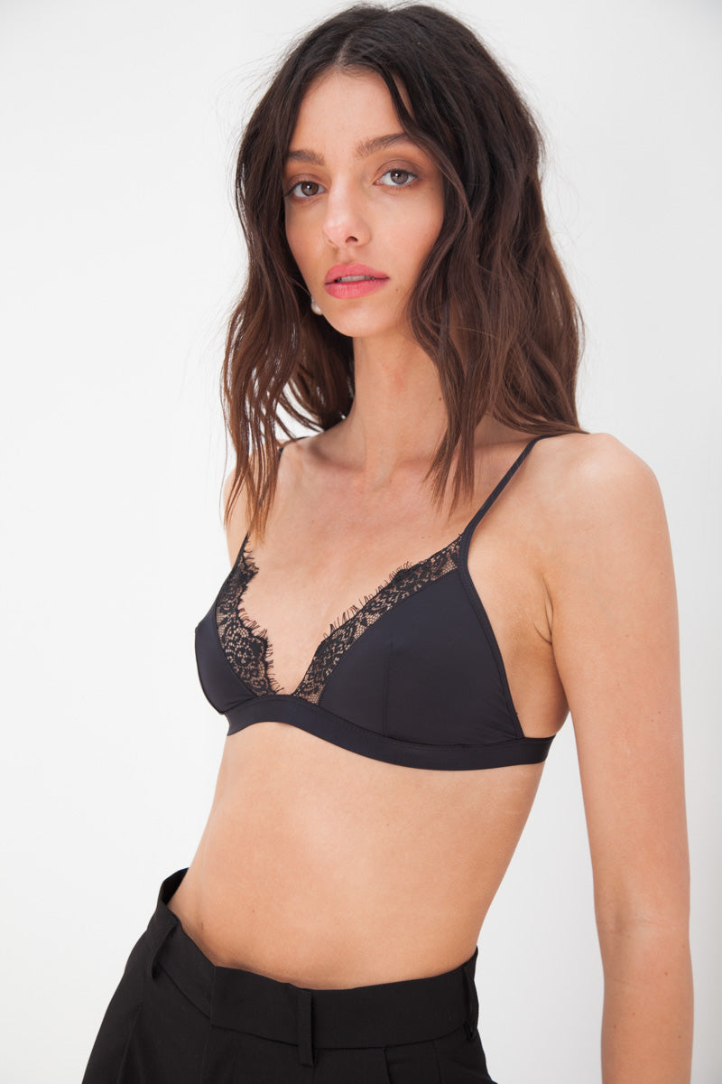 Lace Bra - Black