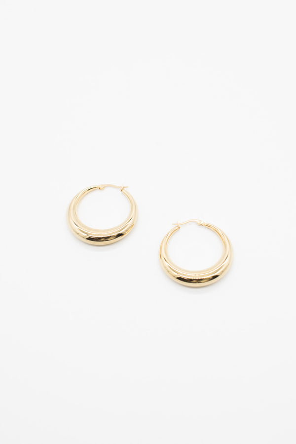 Large Nicole Hoop Earrings - Gold Plated