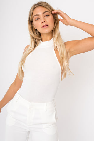 Baby Ribbed Knit Top - White