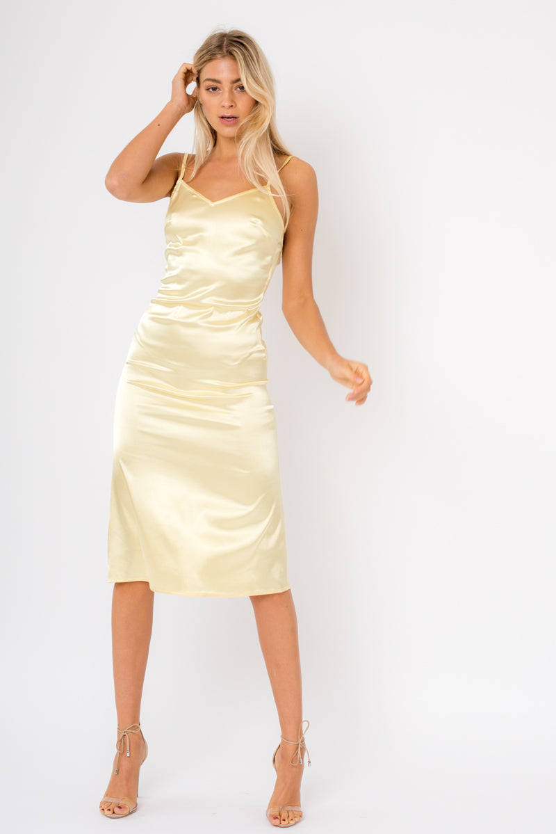 Lola Dress - Lemon