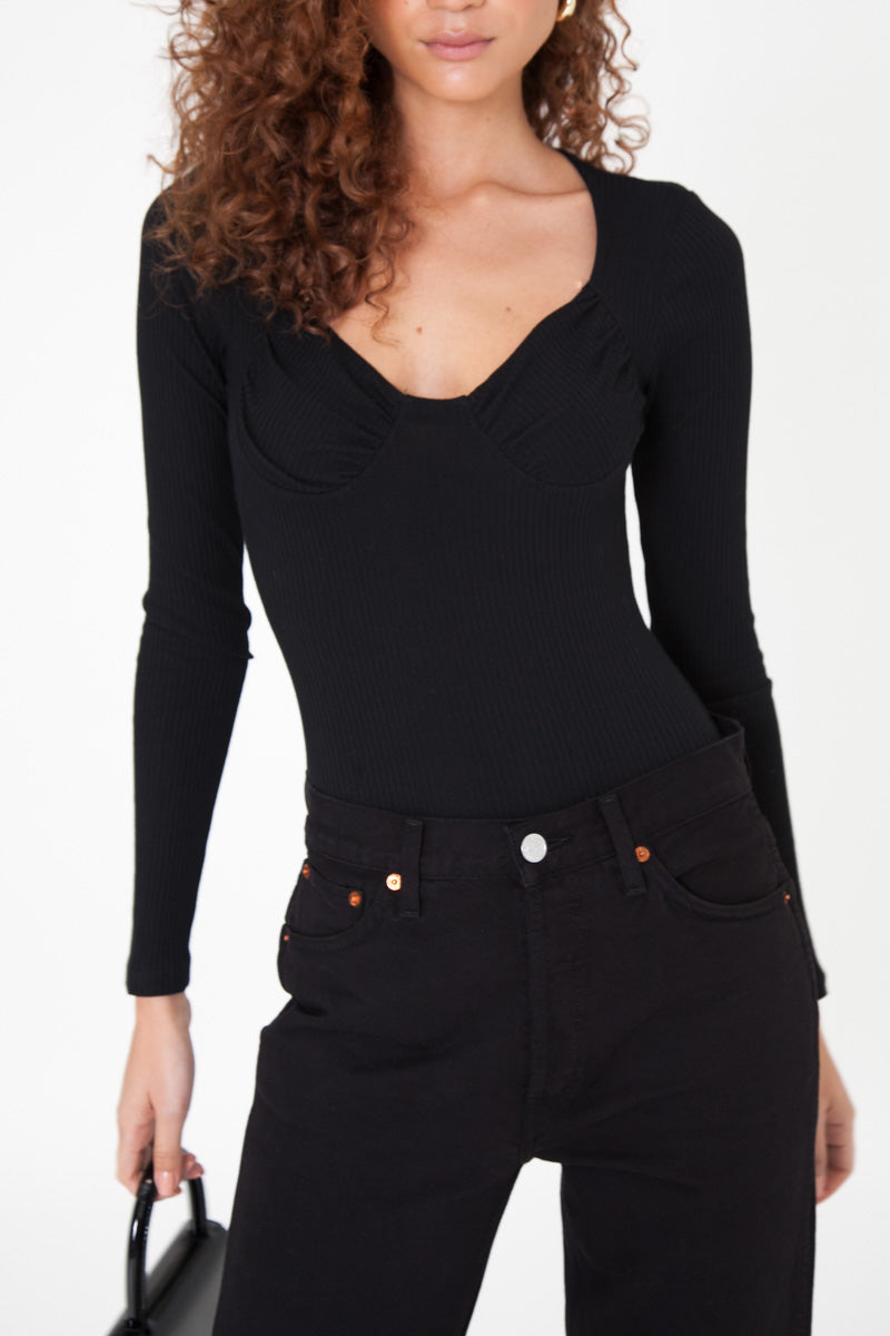 Lulu Bodysuit - Black