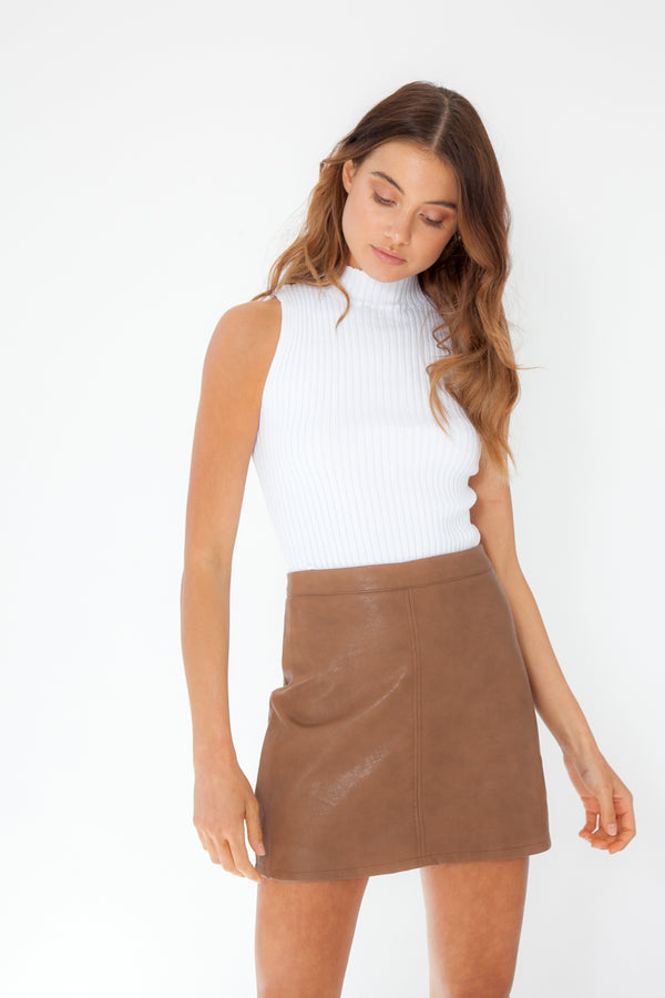 Macey Skirt - Tan