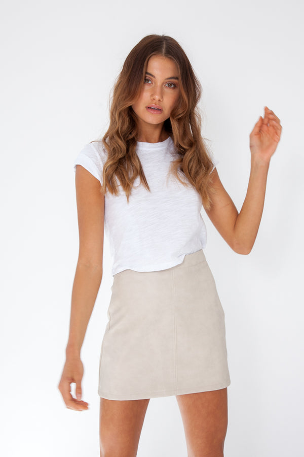 Macey Skirt - Stone