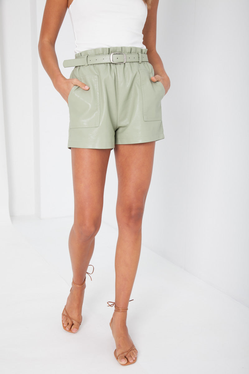 Taylor Shorts - Faux Leather