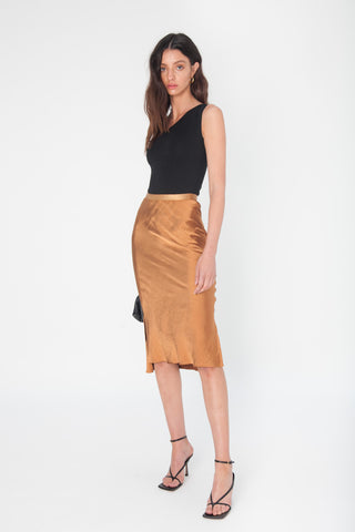 Knit Midi Skirt - Black