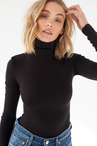 Semi Sheer Skivvy - Black