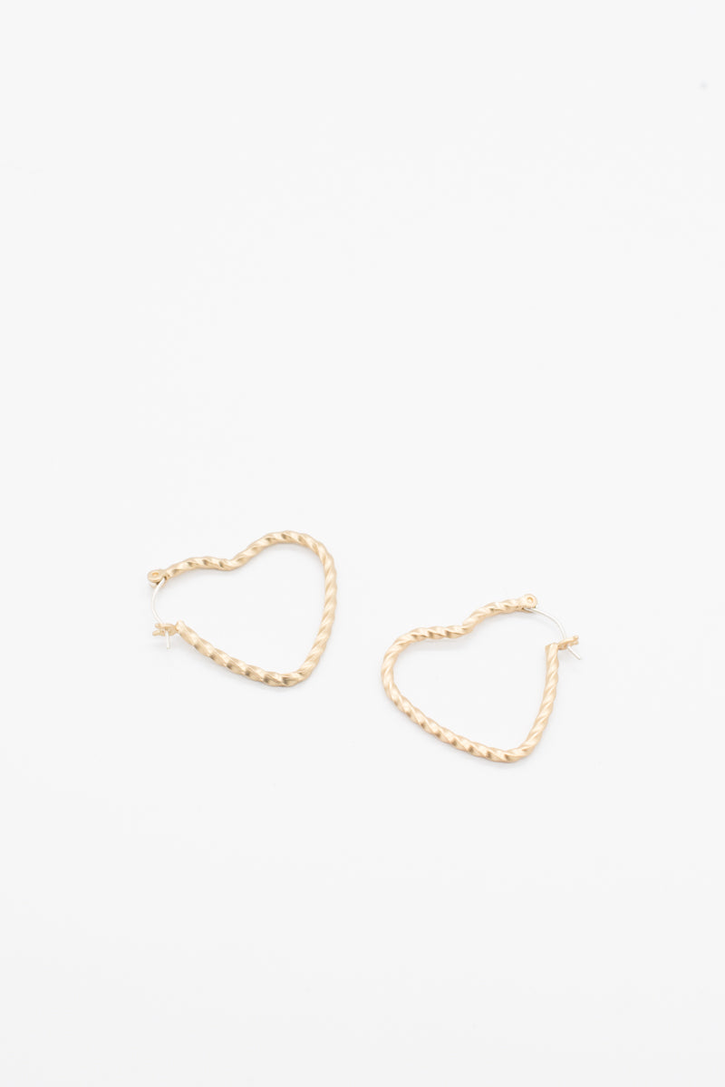 Mini Heart Rope Earrings