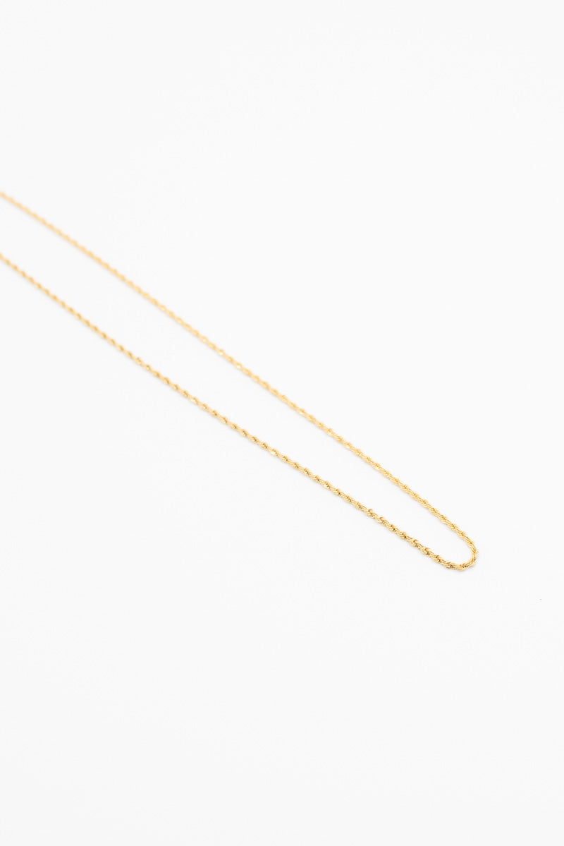 Delicate Rope Necklace - Gold Plated