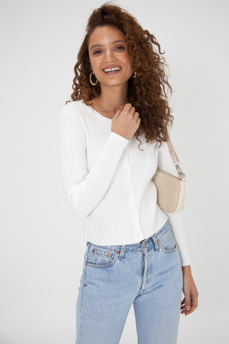 Ruby Cardigan - White