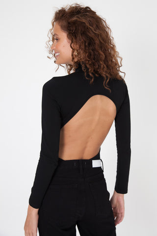 Long Sleeve Bodysuit - Black