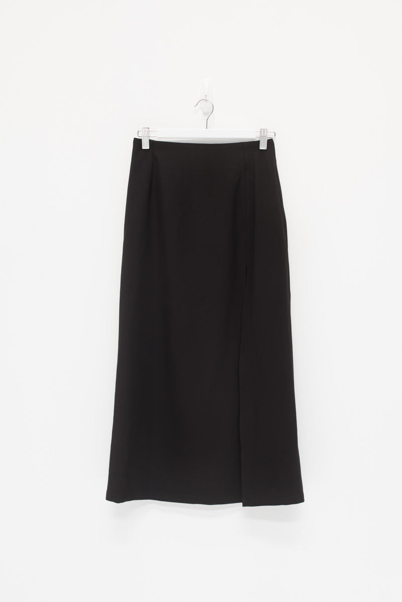FRONT SPLIT MIDI SKIRT / SAMPLE