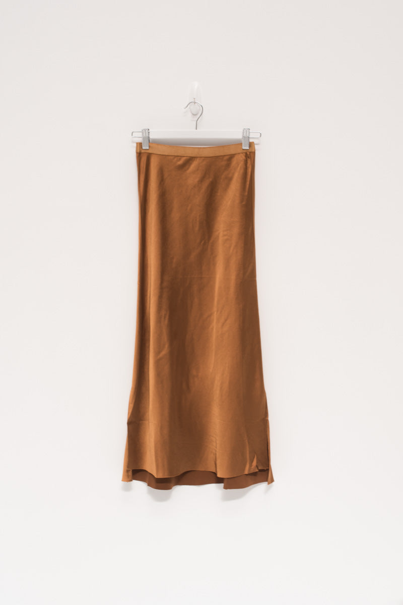 Nina Midi Skirt - Burnt Orange / OUTLET